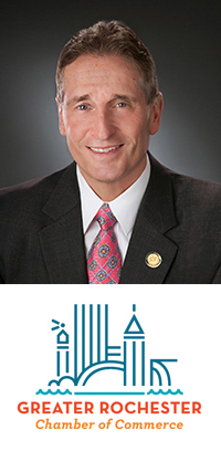 Robert Duffy and the Greater Rochester Chamber of Commerce logo